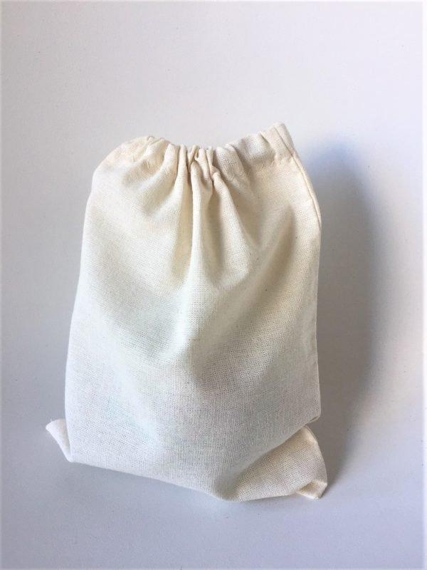 bolsa lienzo 15x20 cm con cordel