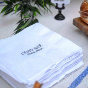 servilleta 24x24 tissue impresa