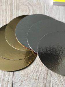 discos laminados dorado plateado